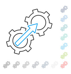 gear integration contour icon vector image