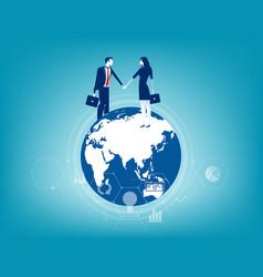 Global business business contact worldwide vector
