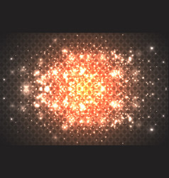 gold abstract bokeh background vector image