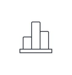 graph chart statistic diagram thin line icon vector image