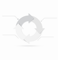 Gray color life cycle infographic content vector