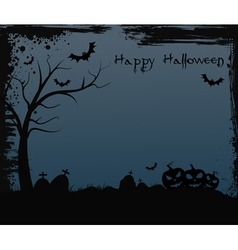 Halloween background with spooky tree vector
