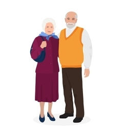 Happy grandfather and grandmother standing vector image