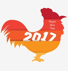 happy new year with rooster colorful year of the vector