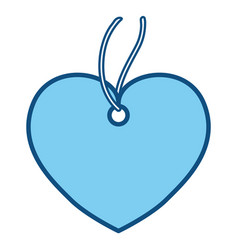Heart pendant necklace vector