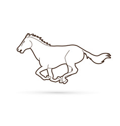 Horse running cartoon graphic vector