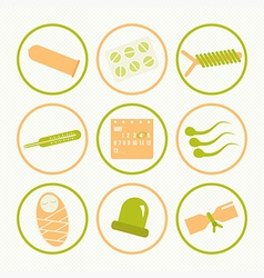 Icons methods of contraception vector