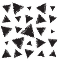Infinite backdrop with triangles vector
