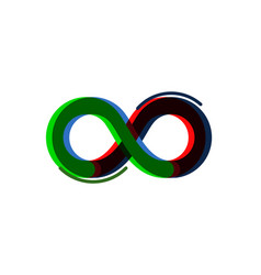 infinity color icon sign element geometric vector image