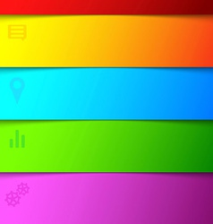 Infographics bright rainbow background - list vector