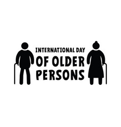 International day older persons vector