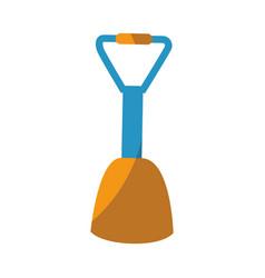 Isolated beach shovel vector
