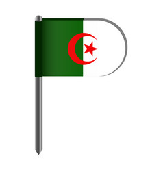 isolated flag of algeria vector image