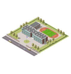 isometric infographic element or university vector image