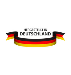 Made in germany colored ribbon german tricolor vector