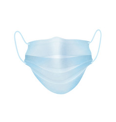 medical mask isolated over white background vector image