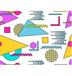 memphis seamless pattern geometric objects with vector image