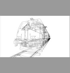 modern train concept vector image
