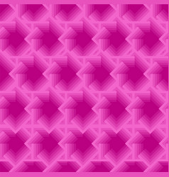 Pink seamless geometric pattern with squares vector