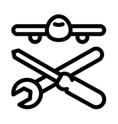 Plane instruments icon outline vector
