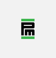 pm - design element or icon logo with letters p vector image