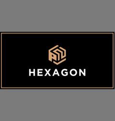 Pn hexagon logo design inspiration vector