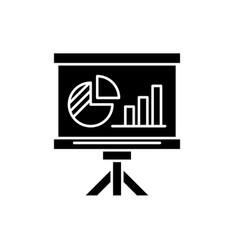 presentation board black icon sign on vector image