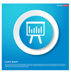 progress graph icon abstract blue web sticker vector image