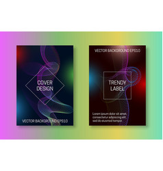 Quantum cover template with colourful stream vector