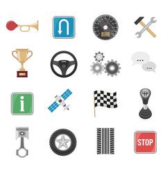 Racing car icon set vector