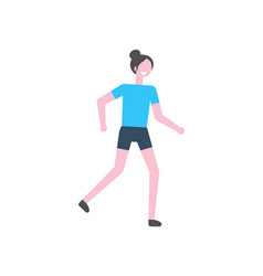 running woman healthy lifestyle of young lady vector image