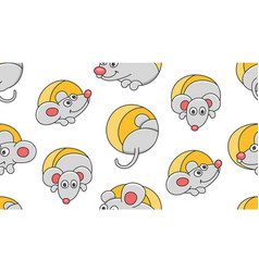 seamless pattern with mouses vector image