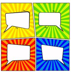 set of comic speech bubble cartoon vector image
