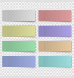 Set sticky note or office paper sheet vector