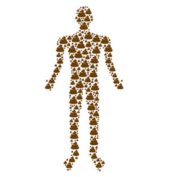 shit human figure vector image