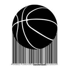 silhouette of a basketball ball vector image
