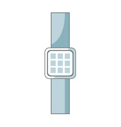 smart watch device display with app technology vector image