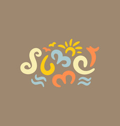 summer can be used as a greeting card vector image