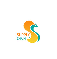 supply chain badge vector image