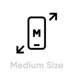 tech specs medium size phone icon editable vector image