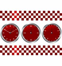 time and checkered flag vector image