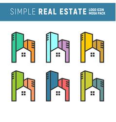 Urban real estate logo mega pack vector