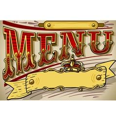 vintage graphic element for menu vector image