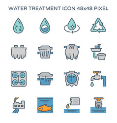 water treatment plant and septic tank icon 64x64 vector image