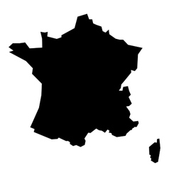 Black silhouette map of France vector image vector image
