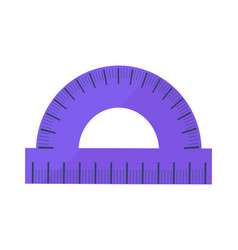 blue protractor icon isolated vector image