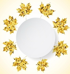 Happy Thanksgiving Day background with golden vector image