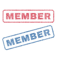Member textile stamps vector