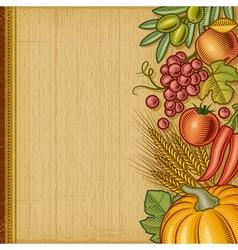 Retro harvest background vector image