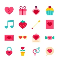 Valentine Day Objects vector image vector image